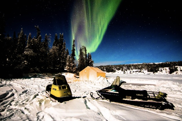 Aurora, Northern Lights, Yellowknife, Canada, tent aurora viewing