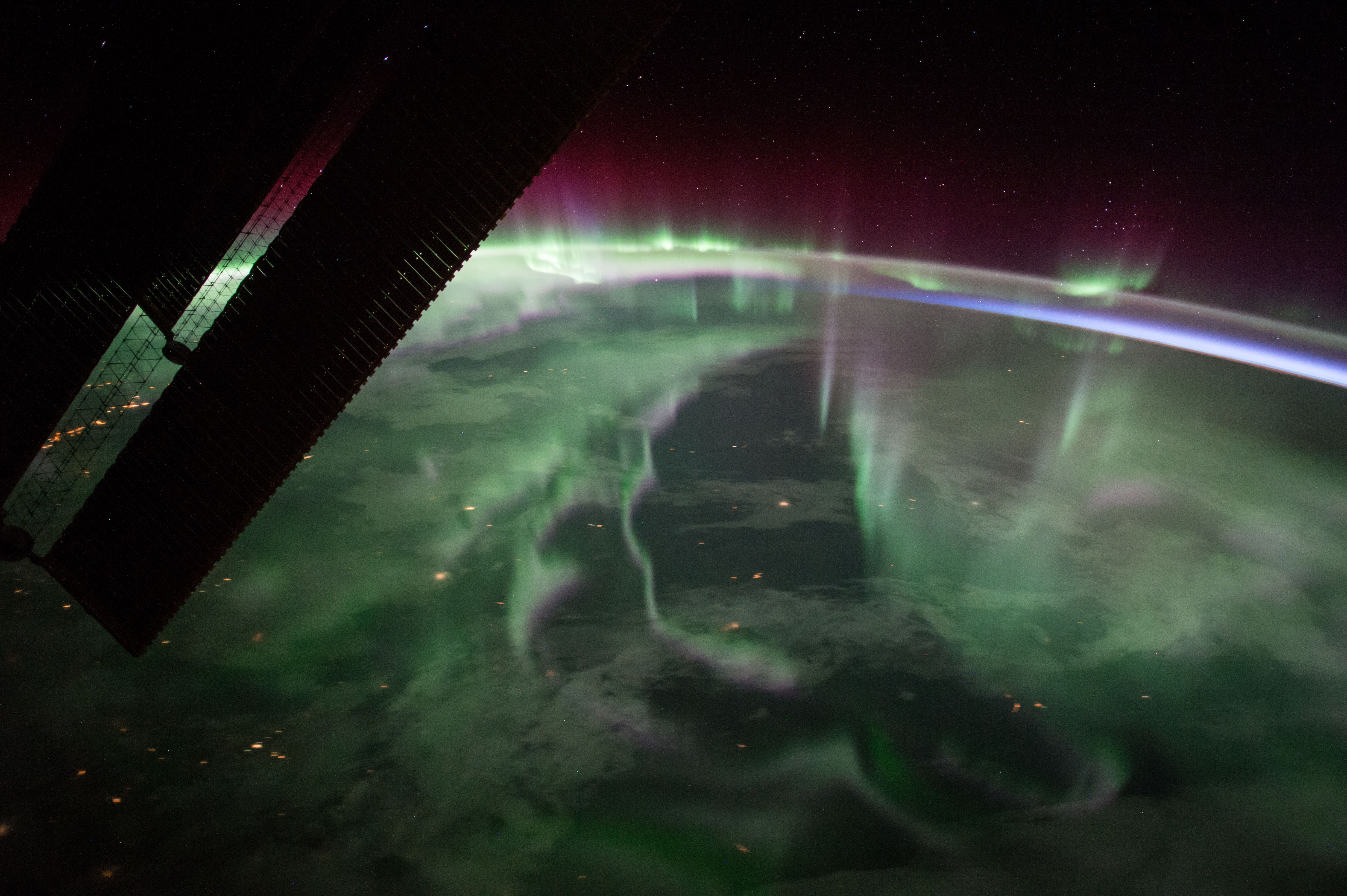 The aurora borealis from Jupiter